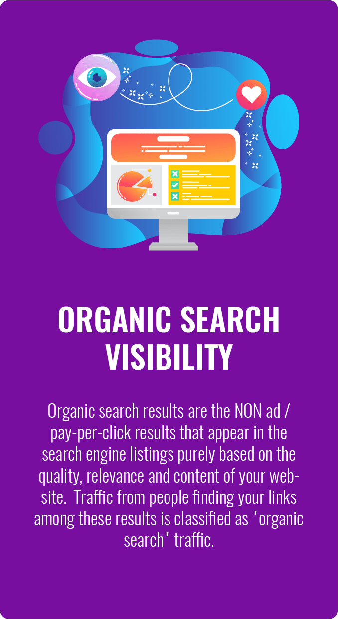 small business SEO services, Organic Web Site Search Engine Visibility