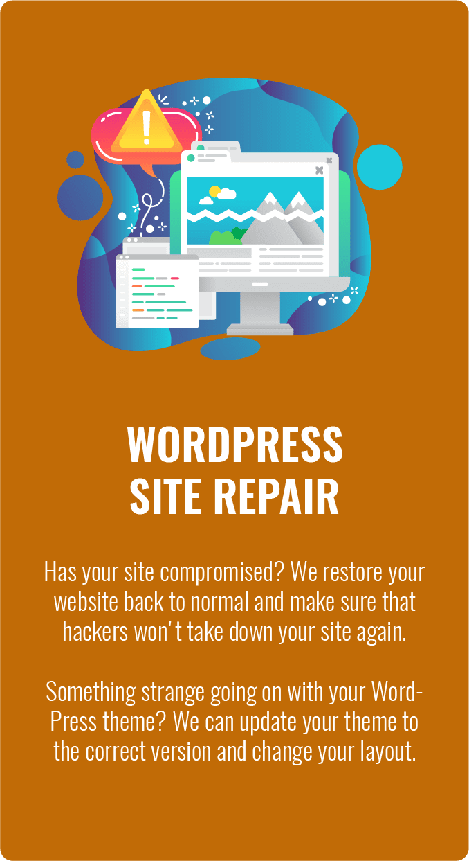 wordpress site repair, WordPress Site Repair