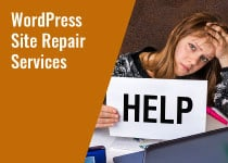 wordpress site repair