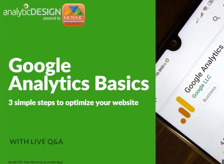 Google Analytics Webinar